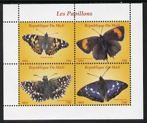 Mali 2014 Butterflies #2 perf sheetlet containing 4 values unmounted mint. Note this item is privately produced and is offered purely on its thematic appeal