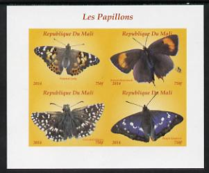 Mali 2014 Butterflies #2 imperf sheetlet containing 4 values unmounted mint. Note this item is privately produced and is offered purely on its thematic appeal, it has no postal validity