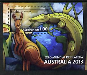 Cuba 2013 Australia Expo imperf m/sheetunmounted mint