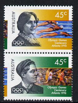 Australia 1996 Centenary of Olympic Games set of 2 unmounted mint SG 1627-8