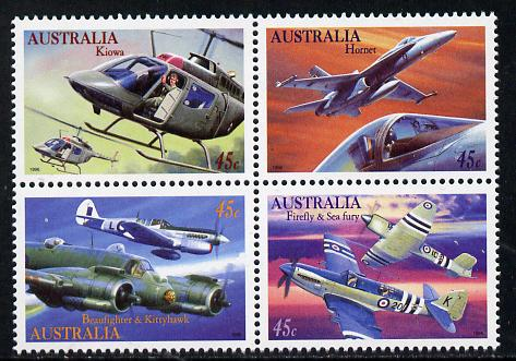 Australia 1996 Military Aviation set of 4 unmounted mint SG 1578a