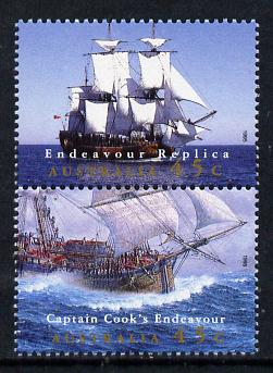Australia 1995 Completion of Endeavour Replica set of 2 unmounted mint SG 1510a