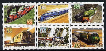 Australia 1993 Trains of Australia set of 6 unmounted mint, SG 1405a
