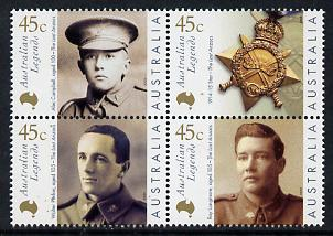 Australia 2000 Australian Legends - 4th issue set of 4 unmounted mint SG 1947a