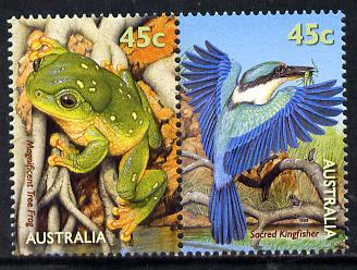Australia 1999 Frog & Kingfisher se-tenant pair unmounted mint SG 1907a