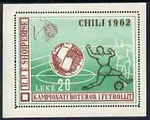 Albania 1962 World Cup Football Championships perf m/sheet unmounted mint, SG MS 715a, Mi BL 11