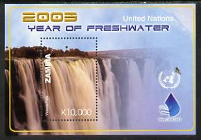 Zambia 2005 International Year of Freshwater perf m/sheet unmounted mint SG MS 922b