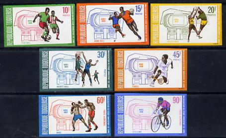 Togo 1969 Inauguration of Sports Stadium set of 7 imperf from limited printing unmounted mint as SG 636-42