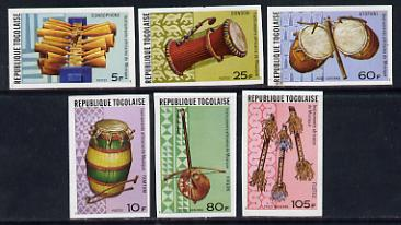 Togo 1977 Musical Instruments set of 6 imperf from limited printing unmounted mint as SG 1185-90