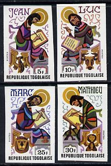 Togo 1978 The Evangelists set of 4 imperf from limited printing unmounted mint as SG 1271-4