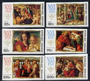 Togo 1976 Christmas - Nativity Scenes set of 6 imperf from limited printing unmounted mint as SG 1167-72