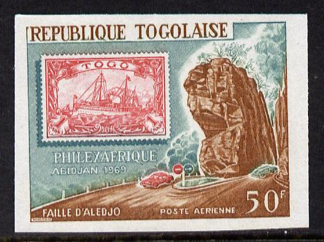 Togo 1969 Philexafrique Stamp Exhibition 2nd series 50f imperf from limited printing unmounted mint as SG 635