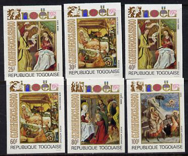 Togo 1972 Christmas (Religious Paintings) set of 6 imperf from limited printing unmounted mint as SG 915-20