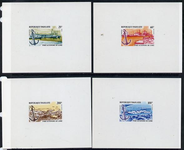 Togo 1978 Autonomous Port of Lome set of 4 individual imperf deluxe sheet unmounted mint as SG 1276-9