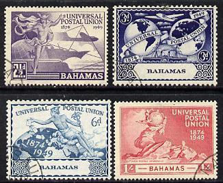 Bahamas 1949 KG6 75th Anniversary of Universal Postal Union set of 4 cds used, SG 196-9