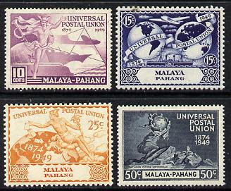 Malaya - Pahang 1949 KG6 75th Anniversary of Universal Postal Union set of 4 unmounted mint, SG 49-52