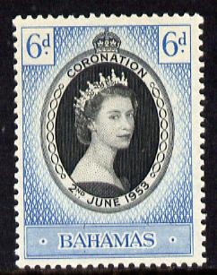 Bahamas 1953 Coronation 6d unmounted mint SG 200