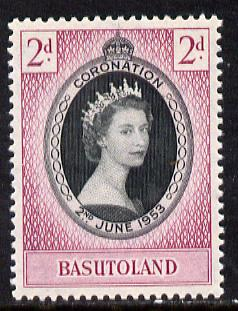 Basutoland 1953 Coronation 2d unmounted mint SG 42, stamps on coronation, stamps on royalty