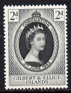 Gilbert & Ellice Islands 1953 Coronation 2d unmounted mint SG 63
