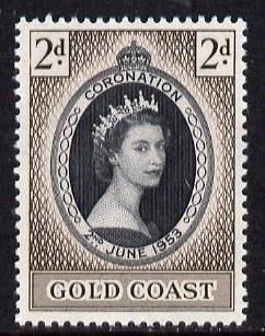 Gold Coast 1953 Coronation 2d unmounted mint SG 165