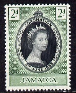 Jamaica 1953 Coronation 2d unmounted mint SG 153