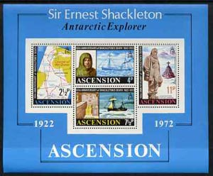 Ascension 1972 50th Anniversary of Shackleton's Death m/sheet unmounted mint, SG MS 163