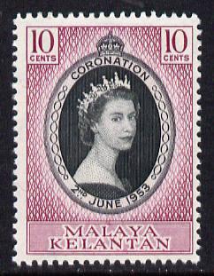 Malaya - Kelantan 1953 Coronation 10c unmounted mint SG 82