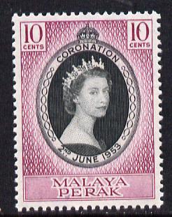 Malaya - Perak 1953 Coronation 10c unmounted mint SG 149