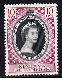 Malaya - Selangor 1953 Coronation 10c unmounted mint SG 115