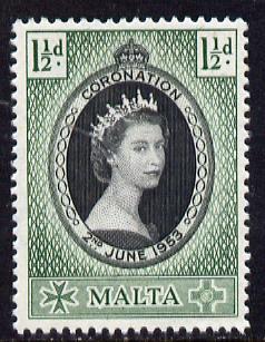 Malta 1953 Coronation 1.5d unmounted mint SG 261