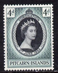 Pitcairn Islands 1953 Coronation 4d unmounted mint SG 17