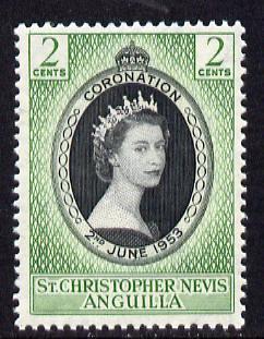 St Kitts-Nevis 1953 Coronation 2c unmounted mint SG 106