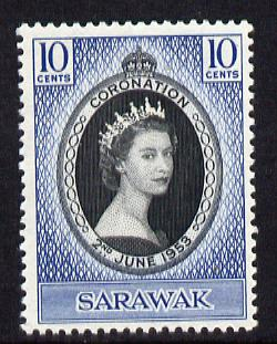 Sarawak 1953 Coronation 10c unmounted mint SG 187