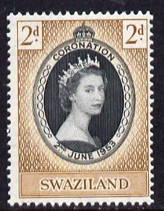 Swaziland 1953 Coronation 10c unmounted mint SG 52, stamps on coronation, stamps on royalty