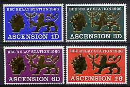 Ascension 1966 Opening of BBC Relay Station set of 4 unmounted mint, SG 103-106*