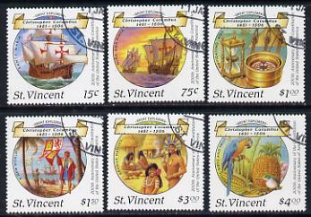 St Vincent 1988 Columbus perf set of 6 cds used, SG 1125-30