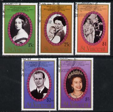 St Vincent 1987 Ruby Wedding set of 5 fine used SG 1079-83