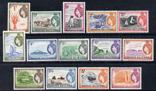 Tristan da Cunha 1954 Pictorial definitive set complete - 14 values unmounted mint, SG 14-27