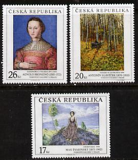 Czech Republic 2003 Art - 12th issue perf set of 3 unmounted mint, SG 385-7