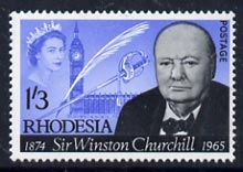 Rhodesia 1965 Churchill Commemoration 1s3d unmounted mint, SG 357*