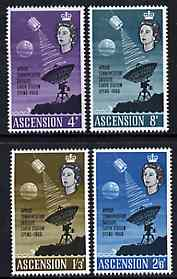 Ascension 1966 Opening of Apollo Communications Satellite perf set of 4 unmounted mint, SG 99-102*