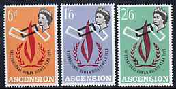 Ascension 1968 Human Rights Year set of 3, SG 110-12 unmounted mint*
