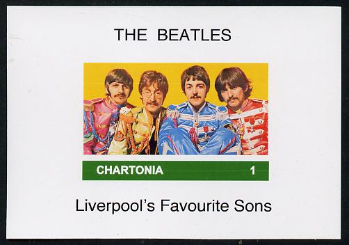 Chartonia (Fantasy) The Beatles imperf deluxe sheet on glossy card unmounted mint