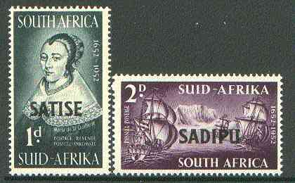 South Africa 1952 Tercentenary International Stamp Exhibition set of 2 unmounted mint, SG 141-42*