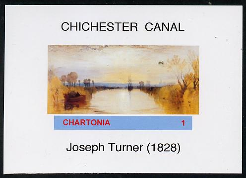 Chartonia (Fantasy) Chichester Canal by Joseph Turner imperf deluxe sheet on glossy card unmounted mint