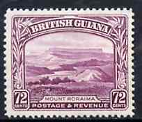 British Guiana 1934-51 KG5 Mount Roraima 72c unmounted mint, SG 298