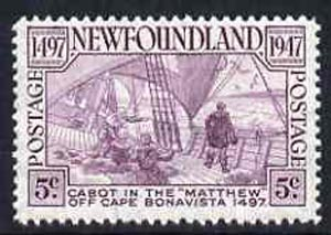 Newfoundland 1947 Anniversary of Cabot's Discovery unmounted mint, SG 294*