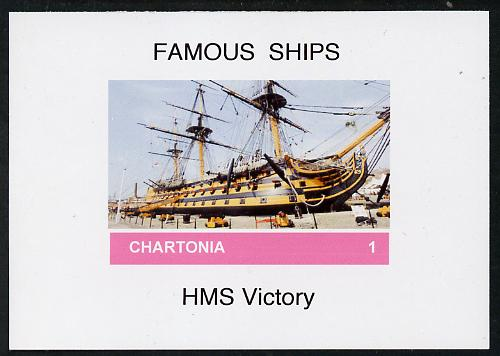 Chartonia (Fantasy) Famous Ships - HMS Victory imperf deluxe sheet on glossy card unmounted mint