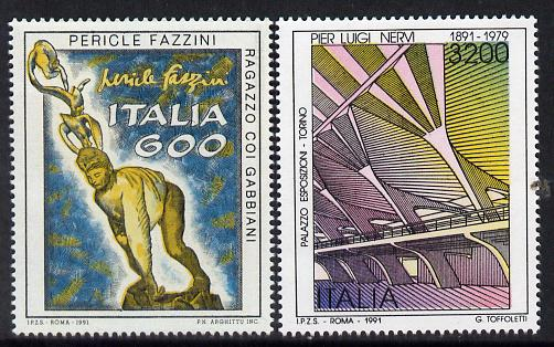 Italy 1991 Artistic Heritage set of 2 unmounted mint SG 2132-33