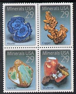 United States 1992 Minerals se-tenant block of 4 unmounted mint SG 2744a